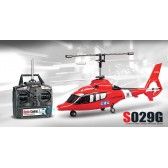 Syma S029G 3CH RC helicopter with GYRO Red