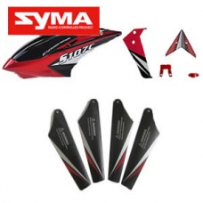 S107C-01-Head-cover-Red + Main-blades-Red + Tail-decoration-Red