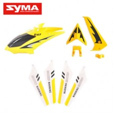 S107G-01-Head-cover-Yellow + Main-bladc-Yellow + Tail-decoration-Yellow