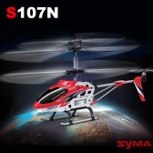 Syma S107N 3CH RC helicopter with GYRO Red
