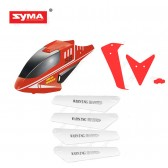 S8-01B-Headcover-B-red + Main-blades + Tail-Decoration-B-red