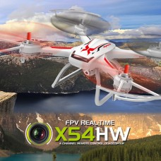 Syma X54HW With Wifi FPV HD Camera 2.4G 4CH 6Axis Barometer Set Height Headless Mode RC Quadcopter Black