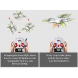 Syma X5HC With 2MP HD Camera 2.4G 4CH 6Axis Barometer Set Height Headless Mode RC Quadcopter Blue