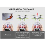 Syma X5HW With Wifi FPV HD Camera 2.4G 4CH 6Axis Barometer Set Height Headless Mode RC Quadcopter Blue