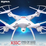 Syma X5SC With 2MP HD Camera 2.4G 4CH 6Axis Headless Mode RC Quadcopter White