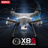 Syma X8G With 5MP HD Camera 2.4G 4CH 6Axis Headless Mode RC Quadcopter Silvery